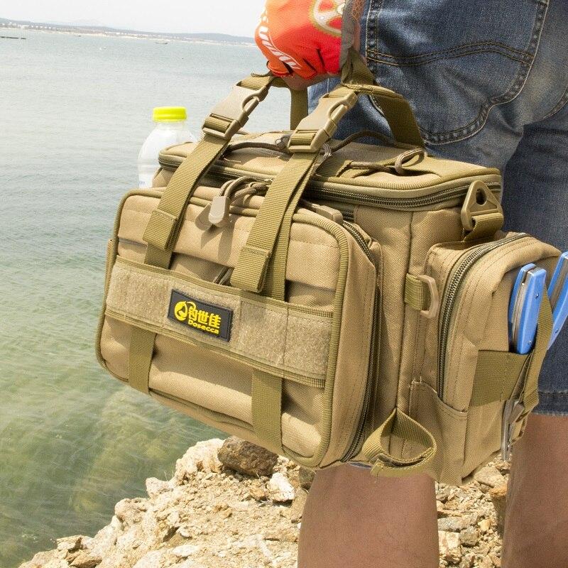 40 20 18cm Fishing Bag Multi function Fishing Tackle Bag Waterproof Canvas Waist Fishing Lure Bag