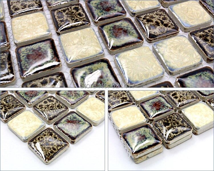 Zwart Wit Tegels : Zwart wit porselein mozaïek keuken backsplashl tegel hmcm m