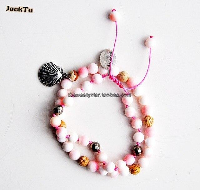 pink mother of pearl girls set bracelet