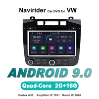 Navirider OS 9.0 Car Android Player For T*ouareg 2012 2014 stereo car radio gps navigation BT TDA7851 Amplifier sound System