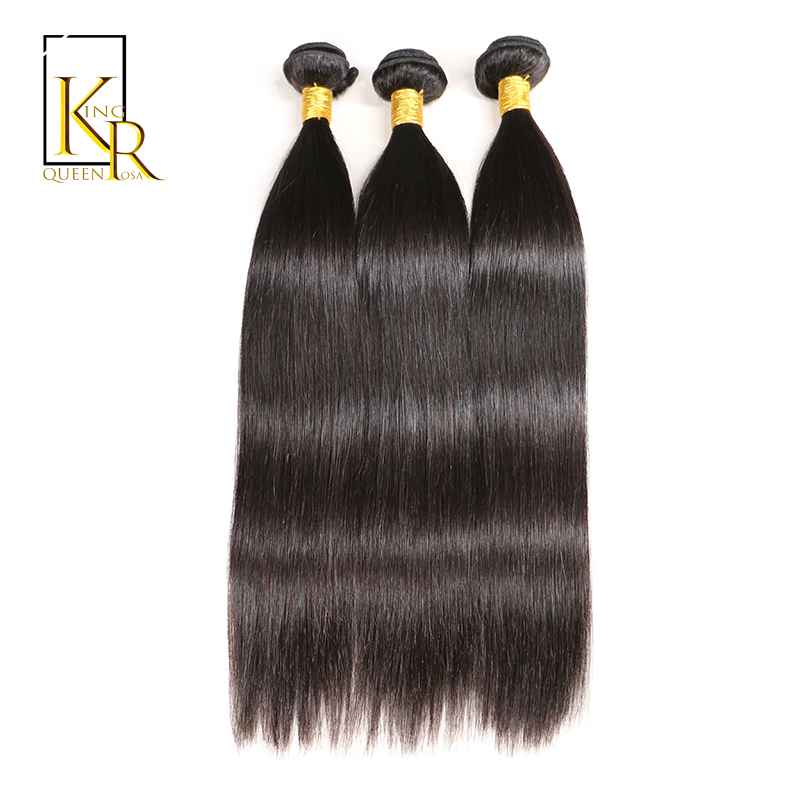 Brazilian Hair Weave Bundles Remy Straight Human Hair Extension 3PC Bundle Can Be Dyed Curled With