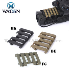 WADSN Airsoft Tactical 5 slot Rail Cover With Wire Loom flashlight Accessories Paintball Part MP02007 Hunting Gear Free Shipping
