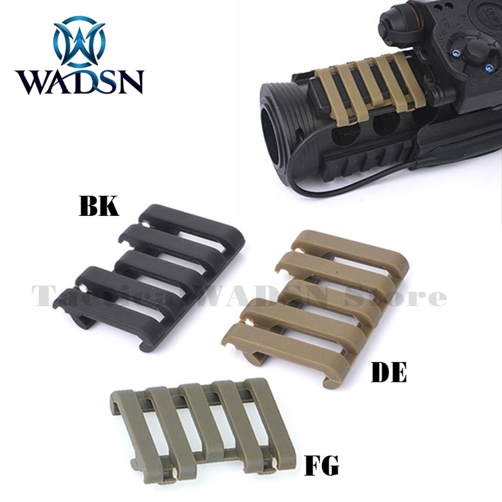 WADSN Airsoft Tactical 5-slot Rail Cover With Wire Loom flashlight Accessories Paintball Part MP02007 Hunting Gear Free Shipping