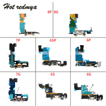 USB Charger Charging Port Dock Connector Data Flex Cable For iPhone 6 6P 6S 6SP 7 7P 8 8Plus Headphone Audio Jack Flex Cable cltgxdd 5pcs 10pcs for huawei honor v10 usb charger charging connector port flex with headphone earphone audio jack port