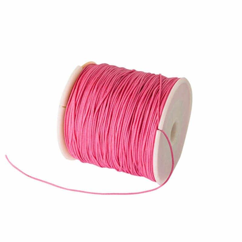 90 м/рулон 0,8 мм ручной рукоделие струны/шнур украшения для самостоятельного изготовления ювелирных изделий китайский узел инструмент ручной строчки нитки