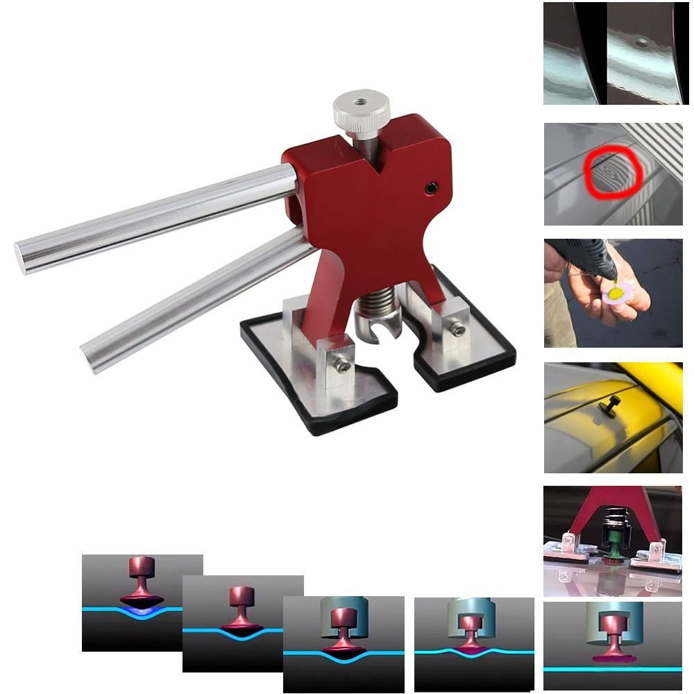 Dent Lifter - Paintless Dent Repair - Glue Puller Hand Lifter PDR Tool with 9 Pcs Glue Puller Tab (3)