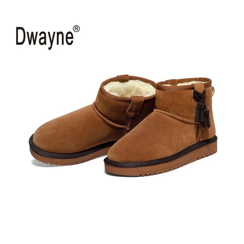 Neve stivali di Cuoio genuini zapatos mujer Stivaletti per le Donne Inverno Stivali botas femininas Scarpe Invernali SN361 80-in Stivaletti da Scarpe su  Gruppo 1