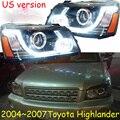 HID  2004 ~ 2007  автомобильный Стайлинг для фара Highlander  vios  corolla  camry  Hiace  sienna  yaris  Tacoma  Highlander head lamp