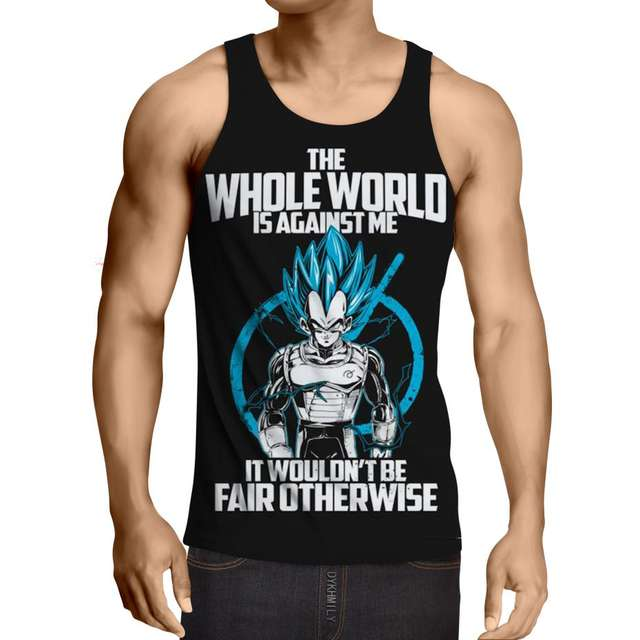 SSGSS VEGETA – THE WHOLE WORLD IS AGAINST ME TANKTOP