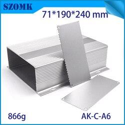 Un pezzo di vendita calda pcb alluminio strumento box box progetto elettronico caso di shell diy 71*190*240mm