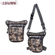 LDAJMW αρσενικό ιππασίας καμβά μέσης και πόδι τσάντα υπαίθρια τακτικές πολλαπλών χρήσεων τσάντα Messenger ώμου αναψυχής αθλητικά πορτοφόλι για τον άνθρωπο