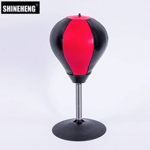 2018 New Arrival Stress Buster Desktop Punching Bag Heavy Duty Composition Relieve Stress Sucker Punch Toy Boxing Training Ball