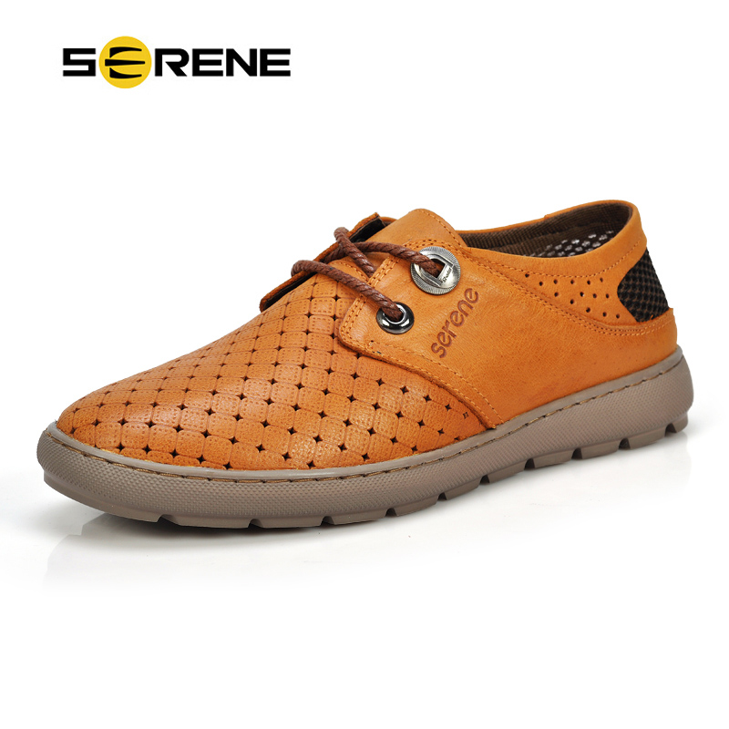 SERENE Brand High Quality Men Oxfords Shoes British Style Carved Leather Moccasins Lace-Up Loafers Business Men's Flats 6188 high quality genuine leather men shoes lace up casual shoes handmade driving shoes flats loafers for men oxfords shoes