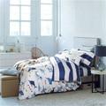 BeddingOutlet Nautical Bedding Voyage Queen Quilt Cover Set Sale 100% Cotton 4PCS Bedding Set For Men