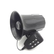 12V 110Db 30W 6 Sound Motorcycle Super Loud Horn Siren Police Firemen Ambulance Warning Alarm Loudspeaker