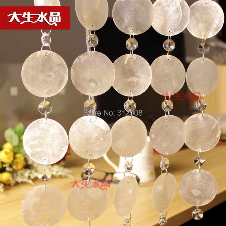 Free Shipping 10M Multi-color Optional Natural Shell Bead Curtain, Shell Party Wedding Decoration