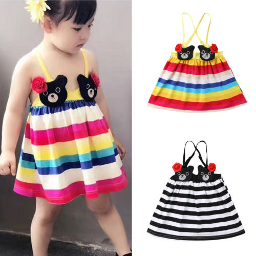 cfe40560c 2018 Fashion Toddler Infant Kids Baby Girls Clothes Summer Princess ...