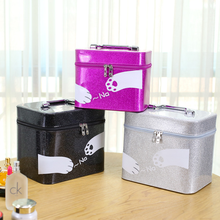 Travel Supplies Portable Double Cosmetic Toolbox Cartoon Cosmetic Storage Box Cosmetic Bag