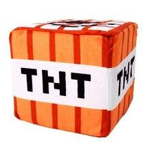 10cm Minecraft Plush Toys Cotton Stuffed TNT Key Chain Bomb For Kids gift cartoon plush collection