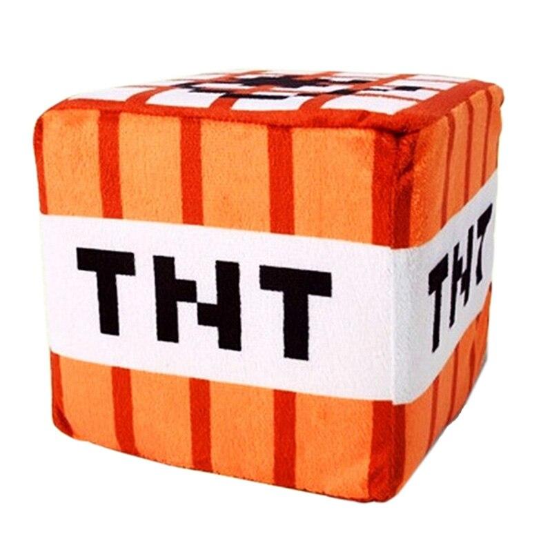 10cm font b Minecraft b font Plush Toys Cotton Stuffed TNT Key Chain Bomb For Kids