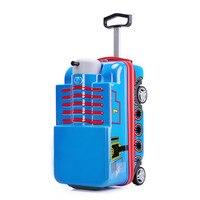 Children's Cartoon Trolley Case 3D Car Travel Luggage Kids Trolley luggage 20 Rolling Luggage