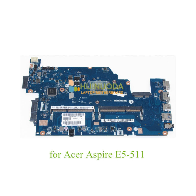 NBMPK11001 NB.MPK11.001 Main board For acer aspire E5-511 laptop motherboard DDR3 Z5WAL LA-B211P