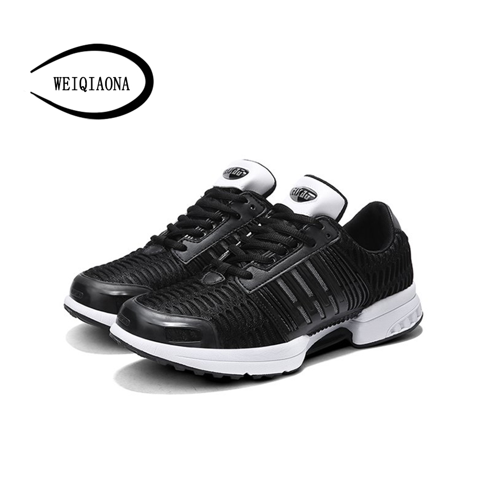 WEIQIAONA 2018 Newest Man Causal Shoes Breathable Lace-up Non-slip Shoes Size 39-44 comfortable Leisure Shoes sports shoes