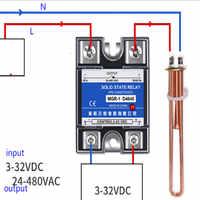 Relais à semi-conducteurs monophasé 220 v ssr-40da MGR-1 D4810 D4825 D4840 40a D4860 Dc control ac livraison gratuite