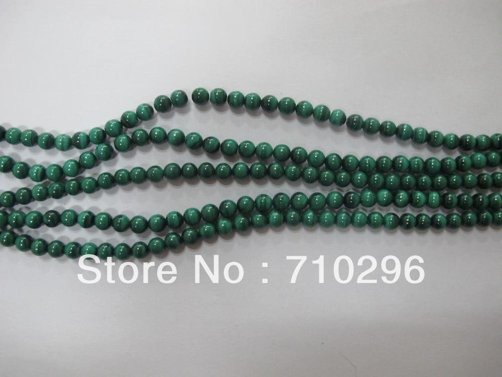 2013 Malachite 8 mm round Semi Precious stone Natural Malachite Beads,40 cm/strand.3strings/lot