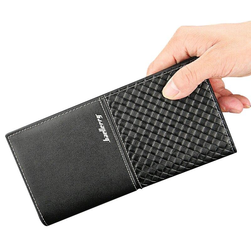 Baellerry Men Wallets Long Men Purse Male Bag Pu Leather Men's Wallet Credit Card Holder Slim Wallet Coin Pocket Leather Wallets