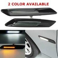 Hot 2Pcs Black LED Side Marker Lights Turn Signal Lamp F10 Style For BMW E60 E82