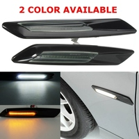 Hot 2Pcs Black LED Side Marker Lights Turn Signal Lamp F10 Style For BMW E60 E82