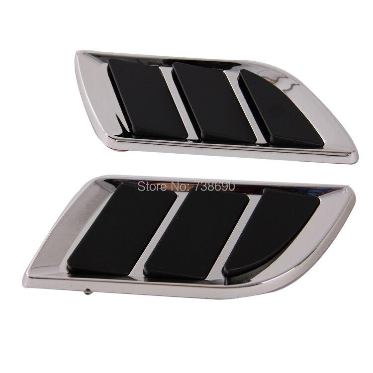Black Car Air Intake Hood Side Cover Badge Flow Vent Fender Decoration Sticker