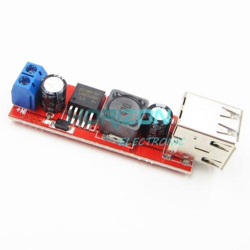 1//2//5PCS DC 6V-40V to 5V 3A Dual USB Charger Step Down Buck Power Supply Module