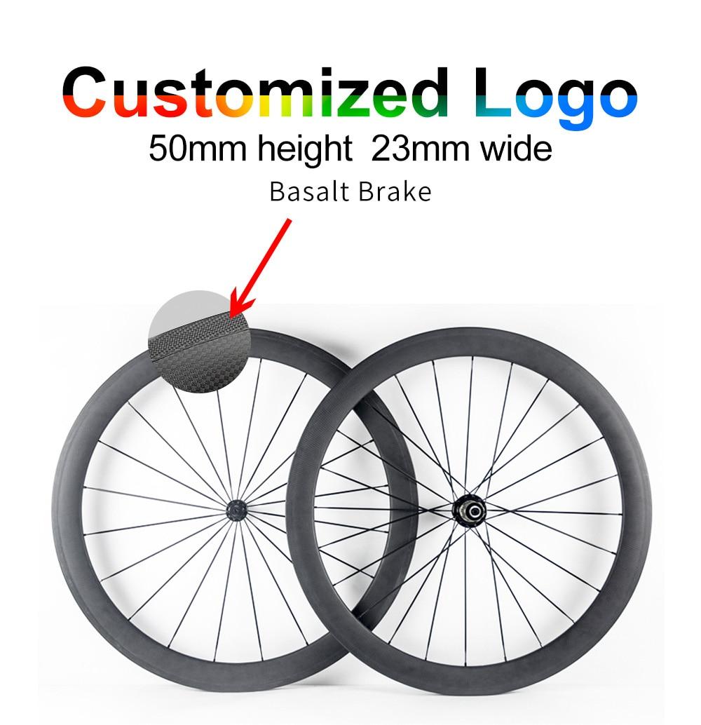все цены на 700C 12K Twill 3k UD wheel carbono road bike wheels 23mm 25mm width 50mm depth Tubular Clincher carbon bicycle wheels Wheelset онлайн