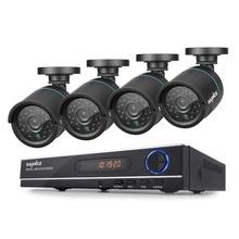 SANNCE HD 8CH 1080N 720 P Системы ВИДЕОНАБЛЮДЕНИЯ HDMI AHD DVR 4 ШТ. 1200TVL ИК Открытый Ночного Видения Безопасности, Камеры Видеонаблюдения комплект