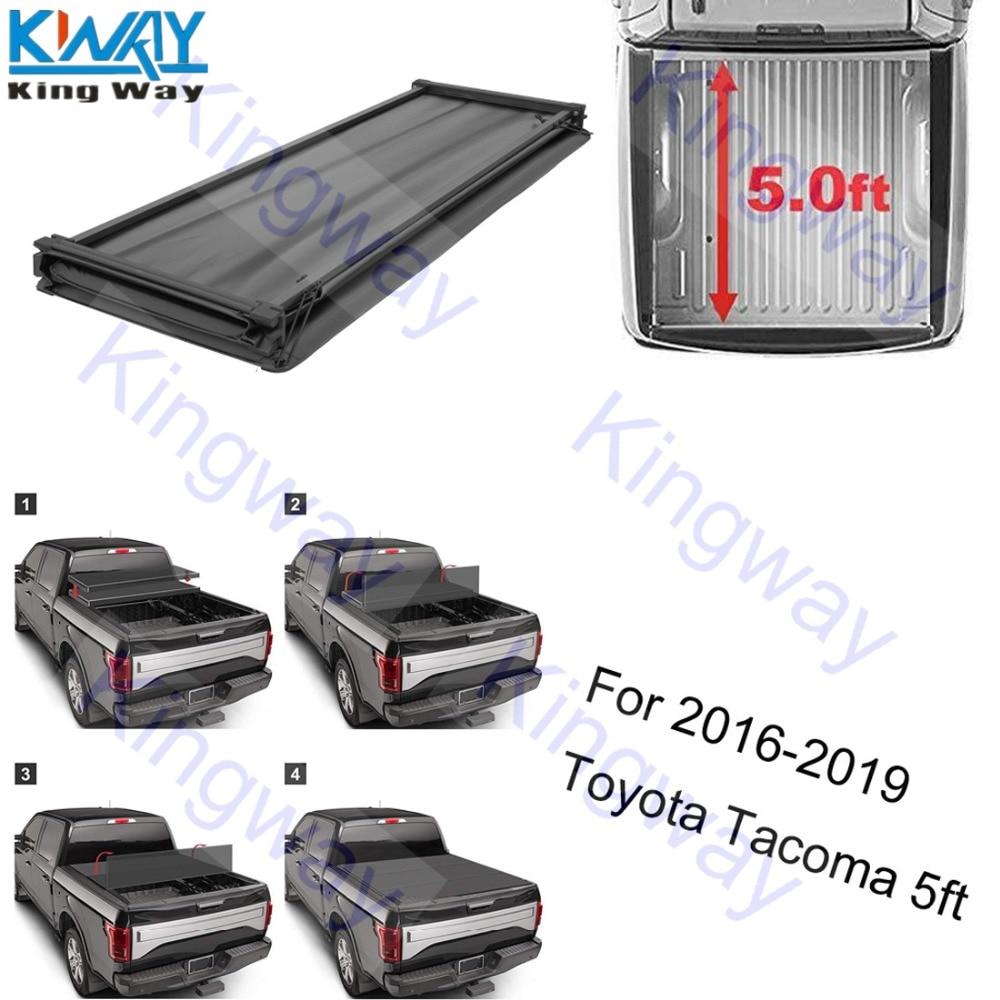 Black Series Auto Soft Tri-Fold Tonneau Cover 2016-2019 Tacoma 6.0-Feet Box