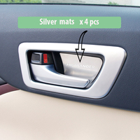 Stainles Steel Interior Door Handle Bowl Cover Patch Pad Mat Sticker Sequins Fit For Toyota Highlander
