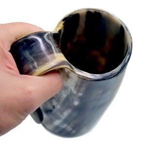 Image 5 - Handmade Viking Drinking Horn Mug Beer Wine Goblet Celebration Cup