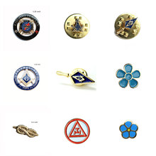 Masonic Freemason Pins Sprig of Acacia Akasha Forget Not Flower Knights Templar Trowel and Cable Rope Knot Royal Arch Lape Pin