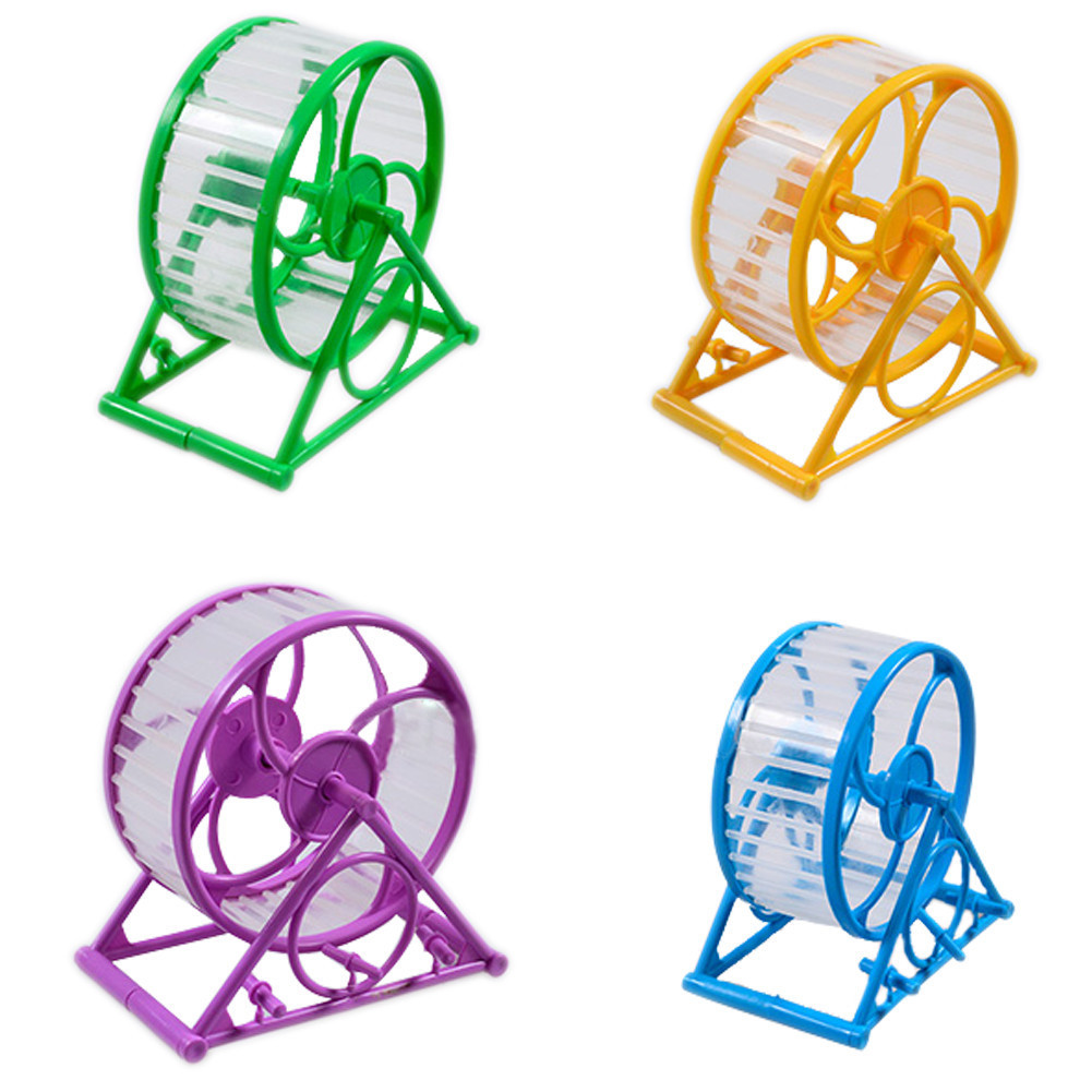 New Arrival Hamster Wheel Pet Jogging Hamster Mouse Mice Guinea Pig Small Pets Exercise Toy Running Spinner Sports Wheel Toys