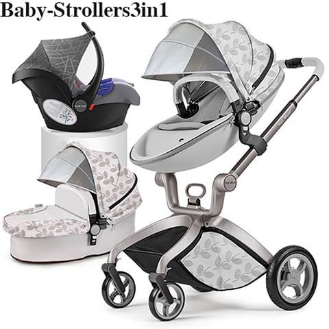 100usd Coupon! 2019 original Hot Mom High Landscape Luxury 3 in 1 baby stroller Newborn carriage folding shock baby pram 0-3 Islamabad