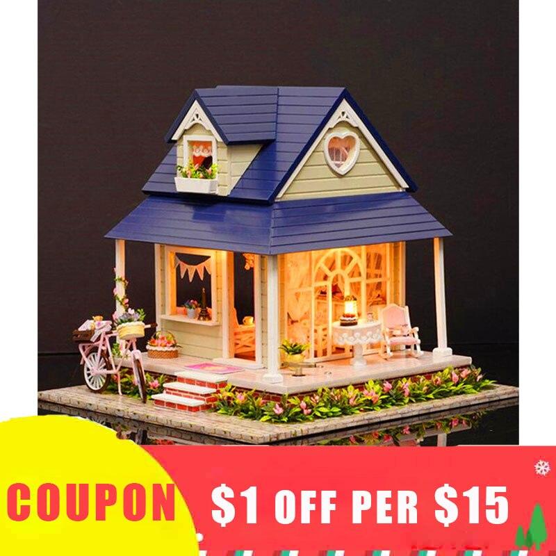 Handmade Miniature Kit Diy House Manual Assembly Model Small House