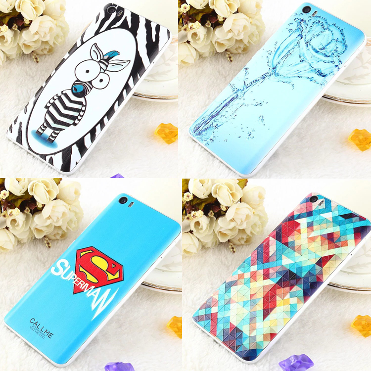 Painting Battery back cover for Xiaomi Mi5 mi 5 Hard Fashion 3D Emboss Protector case for xiaomi mi 5 M5 Mobile phone housing