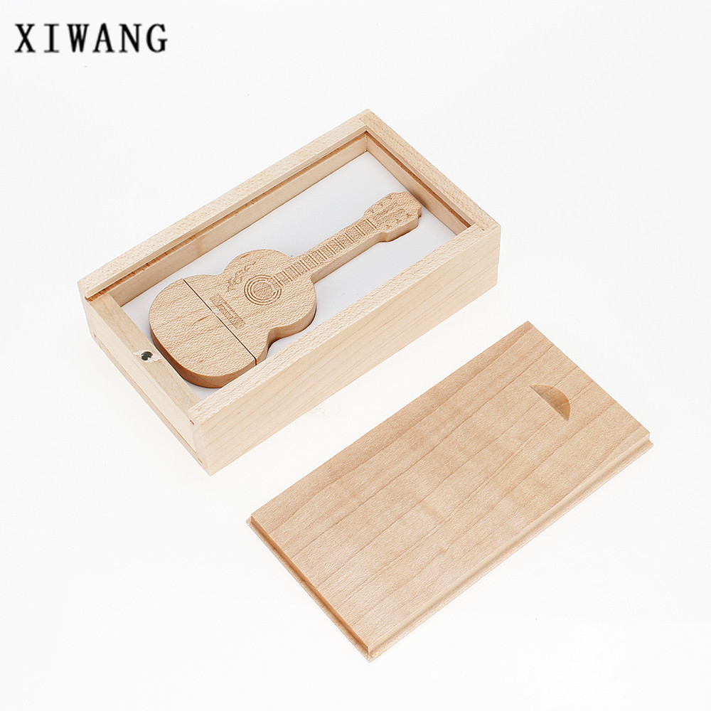 Image 5 - new usb flash drive 32GB natural wood bamboo guitar USB memory stick 2.0 4GB 8GB pendrive 16GB pen drive 64GB gift free shipping-in USB Flash Drives from Computer & Office