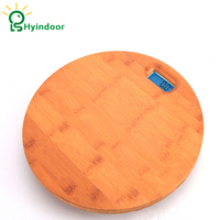 3 180kg Bamboo Circle Wooden Health Weight Fitness Scale LCD Digital Smart Floor Electronic Weighing Pesa Bathroom Scientific