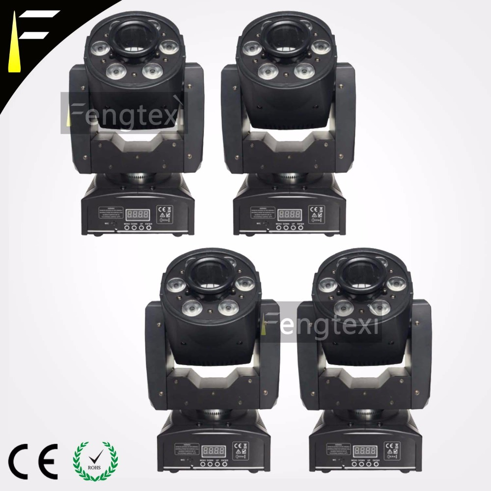 RGBW LED Spot Wash In One Moving Head For 30w Spot& 6x8w Wash Application DJ's Disco Stage Lighting Machine 4Units/Lot