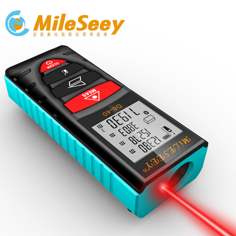 Mileseey 40M 60M 100M Laser Rangefinder Handheld Digital Distance Meter Screen outdoor laser distance meters tape measure tool