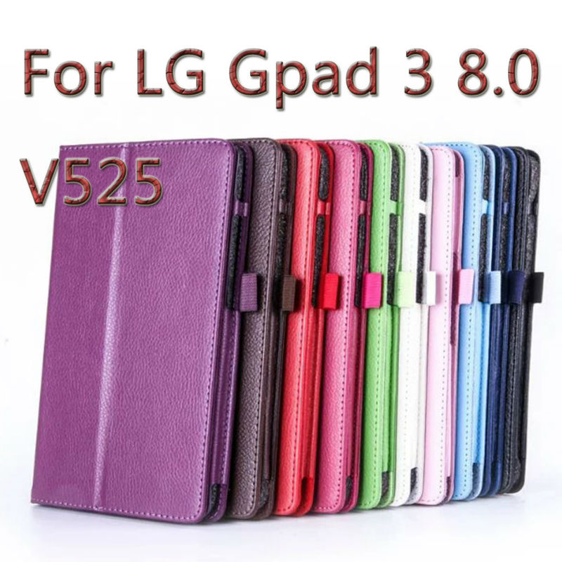 3 in 1 High Quatily Pu Leather Gpad 3 8.0 Stand Tablet Cover Case For LG G Pad 3 8.0 V525 + Stylus + Screen film