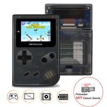 Mini 32 Bit Handheld Game Player Com 16 GB TF Cartão Embutido 1077 Jogos Clássicos Retro Bolso Game Console Melhor Presente Para As Crianças